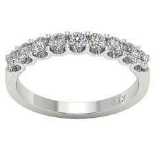 Wedding Engagement Genuine Diamond Ring Band Vs1 E 1.01 Ct 14K Solid White Gold