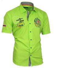 Viga reticulada de Luxe camisa polo camisa manga corta Stick camisa verde 82503 M hasta 5xl