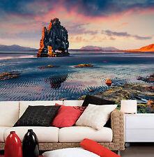 3D Sea sunset stone beauty Wall Paper Wall Print Decal Wall AJ WALLPAPER CA