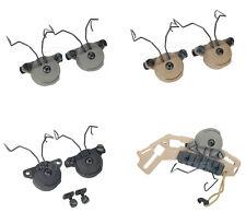 Airsoft Tactical FMA EX Helmet Rail Adapter Set Peltor Headset Gen 2 BK/DE/FG