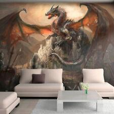-Kinderzimmer Kindertapete Fantasy Ritter Kunst 1330V VLIES Fototapete-DRACHE-