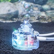 110-220V Aquarium Light LED RGB Small Underwater Fish Tank Lighting Air Bubbler