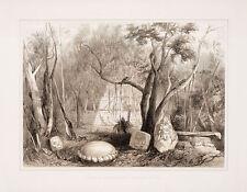 "Frederick Catherwood: ""Pyramidal Building and Sculpture"" (1844) — Fine Art Print"