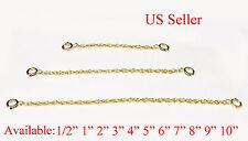 ( Y ) 14k gold filled Extender Safety Rope Chain Necklace Bracelet spring lock