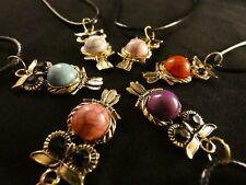 Anhänger 24 Karat Vergoldet Eule Uhu Necklace Wholesale Vintage Jewelry Chain