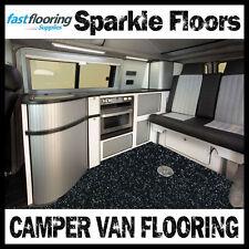 Altro Black Sparkly Camper Van Flooring / Motorhome / Caravan / Safety Flooring