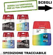 CARTUCCE ORIGINALI CANON PIXMA  PG-540 PG-540XL CL-541 CL-541XL
