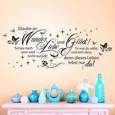 Wandtattoo Glaube an Liebe, Wunder und Glück | Spruch Zitat Wohnzimmer Deko Idee