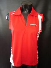 Carlton Badminton Aeroflow Red Sleeveless Shirt Top Women's Size X Large NEW