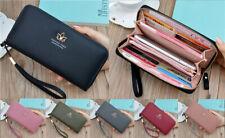 Fashion Womens Girls Leather Wallet ID/Card Holder Zip Long Purse Mobile Handbag