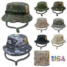 Bucket Hat Camo Cap Hiking Hunting Fishing US Army Military Sun Cover Visor Caps