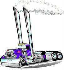 Peterbilt Semi Rig Truck Cartoon for Kids Size T-shirts #1030KG