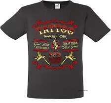 T Shirt graphite Greaser Rockebilly Tattoo&Gothikmotiv Modell Tattoo
