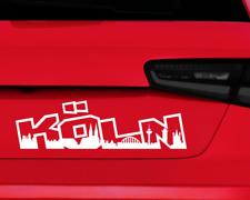 Autoaufkleber Köln Aufkleber Schriftzug Skyline  25 Farben 8 Größen