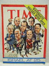 April 30, 1973- TIME Magazine- Watergate Breaks Wide Open/Jack Davis cover VG