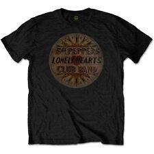 SGT PEPPER  Beatles 50th Anniversary Original Pepper Drum T-Shirt Black Cotton