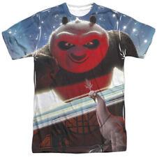 Kung Fu Panda 2 Cartoon Movie Po vs Shen Battle Adult 2-Sided Print T-Shirt