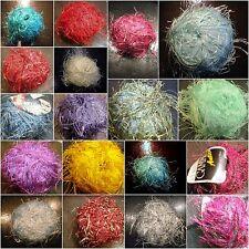Beilaufgarn Effektgarn lange Fransen Wolle diverse 20g-50g Vintage Retro Seite 7