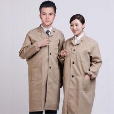 Unisex Dust Proof Transport Long Coat Jacket Outerwear Secure Workwear Uniform