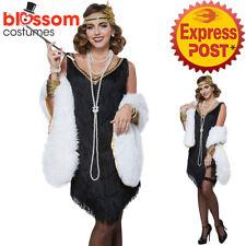 CA516 Fabulous Flapper Great Gatsby Womens Fancy Dress 1920s Charleston Costume