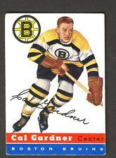 Cal Gardner Boston Bruins 1954-55 Topps Card #47