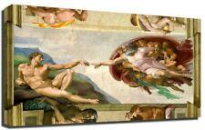 Creation di Adam Michelangelo Con cornice Tela Stampa D'arte Regalo Compleanno