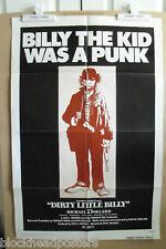 DIRTY LITTLE BILLY~1 SHEET~ORIGINAL~MOVIE POSTER~1972~MICHAEL POLLARD