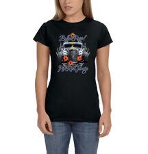 Bullet Proof Garage Hot Rod Garage Car Racing Ladies Womens T-Shirt Tee