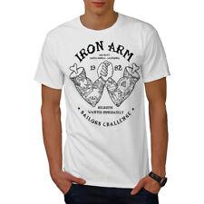 Wellcoda Iron Arm Sailor Sport Mens T-shirt, Iron Graphic Design Printed Tee