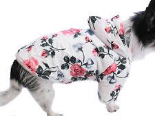 Hundejacke Hund S M L XL XXL Blumen Hundemantel Winter warm Beige Rot Mantel