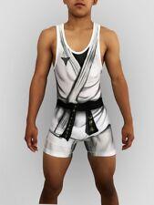 Haduken Street Fighter Ryu Wrestling Singlet Folkstyle Youth Children Adult mens
