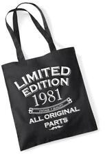 37th regalo di compleanno Tote Bag MAM shopping Limited Edition 1981 tutte le parti originali