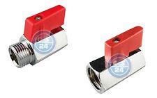 Mini Kugelhahn Innen-/Außengewinde Druckluft Wasser Hahn Ventil Absperrarmaturen