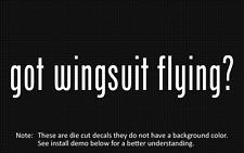 (2x) got wingsuit flying? Sticker Die Cut Decal vinyl