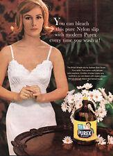 Bridal Wreath Slip PUREX BLEACH Gotham Gold Stripe PURE NYLON 1960 Magazine Ad