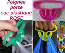 POIGNEE CROCHET PORTE SAC PLASTIQUE 15KGS MAX ROSE ACCROCHE SHOPPING