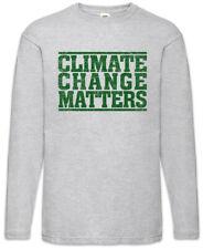 89778470c9 Climate Change Matters Men Long Sleeve T-Shirt Save World Global Warming  Vegan