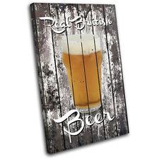 Shabby Chic Pub Beer Food Kitchen SINGLE DOEK WALL ART foto afdrukken