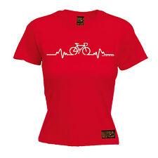 Cycling Bike Heart Beat Pulse WOMENS T-SHIRT Cyclist Bike Funny Gift birthday