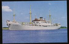 MS Willemstad Color Postcard - KNSM - Royal Netherlands Steamship Co.