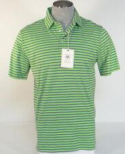 Polo Golf Ralph Lauren Green & Purple Stripe Vintage Lisle Polo Shirt Men's Nwt