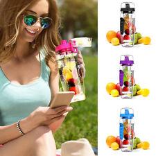 1000ml Botella infusor de agua de fruta Sin BPA plástico Deportes Detox Salud