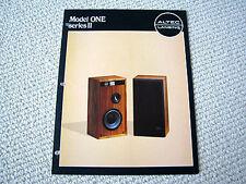 Altec Lansing Model One Series II speakers brochure