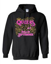 Queens Are Born In September Crown Birthday Funny DT Sweatshirt Hoodie