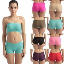 Women Panties Seamless ice silk Lingerie Hipster Underwear Boyshorts Briefs S-L