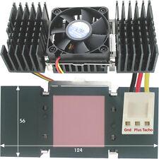 Kühlkörper hoch 12V 50mm Lüfter für Pentium 2 Peltier oder andere Kühlanwendung