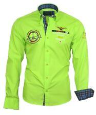 Hemd Herrenhemd Herren Hemden Shirt bestickt Stickerei 82103 grün Binder de Luxe