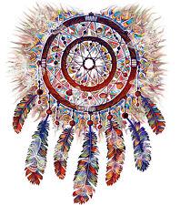 Women's Tee Espiral Rojo tribal indio nativo americano plumas cultura TS740