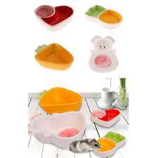 Small Animal Ceramic Bowl Pet Hamster Corner Feeder Food Water Feeding Dish