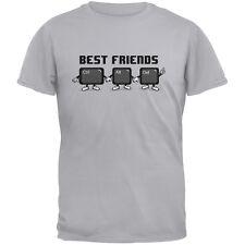 Ctrl Alt Delete Best Friends Light Heather Grey Adult T-Shirt